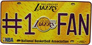 Los Angeles Lakers #1 Fan NBA Embossed Metal Novelty License Plate Tag Sign 82010M
