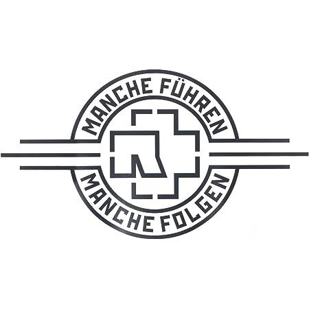 Rammstein Aufkleber Sticker Silber Schriftzug Freistehend 100mm Offizielles Band Merchandise Auto