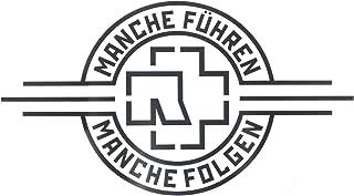 """Rammstein Auto Aufkleber Sticker """"Manche Führen Manche Folgen"""" schwarz (aussenklebend), Offizielles Band Merchandise Heckscheibe"""