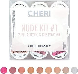 CHERI - 2 IN 1 ACRYLIC & DIP POWDER - NUDE KIT (NUDE KIT 1)