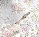 3D en relieve jardín papel pintado de la flor del damasco AB dormitorio sala de estar fondo del sofá pared no tejido papel pintado blanco Etiqueta Papel pintado