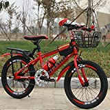 DODOBD Bicicleta para Niños Bicicleta de Velocidad Variable para Niños Ciclismo Deportivo con Asiento Trasero Apto para Niños de 6 A 10 Años O Niños de 49 A 60 Pulgadas de Altura