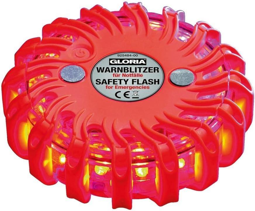 Warnblitzer Warnblinker Gloria Mit Magnet Mit 16 Ultrahellen Led S In Rot Auto