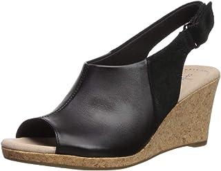 e9a088525b60 Amazon.com  5.5 - Black   Platforms   Wedges   Sandals  Clothing ...