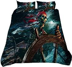 Pirates Crânes navires Bateau Garçons Bleu Literie Set-fait main