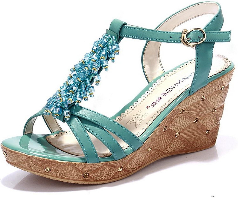 BalaMasa Womens Sandals Light-Weight Smooth Leather Huarache Urethane Sandals ASL04621
