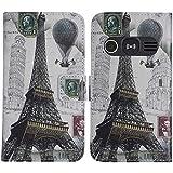 TienJueShi Eiffel Tower Fashion Stand TPU Silicone Book