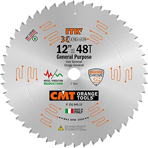 new arrival CMT 251.045.12 ITK General lowest Purpose Saw new arrival Blade, 12-Inch x 45 Teeth 1FTG+2ATB Grind with 1-Inch Bore sale