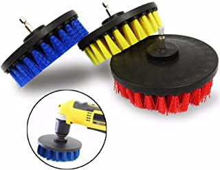 DIY Industrial Scientific Tool Accessories Cleaning Brush 5 Inch Red/Yellow/Blue Bristle Electric Drill Brush Cleaning Brush Dust Removal Brush (Color : Yellow)