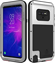 LOVE MEI Powerful Series for Samsung Galaxy Note 9 Case Shockproof Without Screen Protector Combo Metal and Silicone Heavy Duty Full Body Protection Rugged Armor Hard Case for Samsung Note 9 Silver