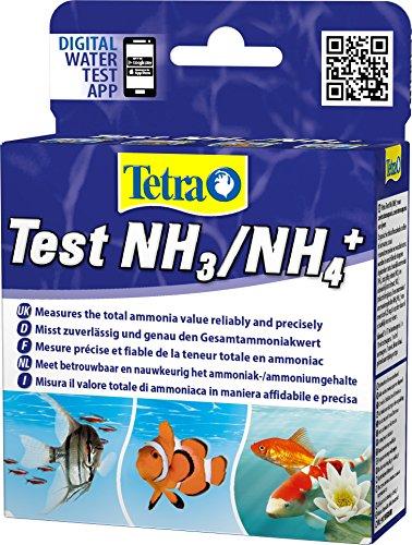 Tetra Test NH3/NH4 (Ammoniak) - Wassertest für Süßwasser-Aquarien, Meerwasser-Aquarien und Gartenteiche, misst zuverlässig und genau den Ammonikawert
