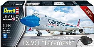 52,5 cm Maquette Revell- Boeing 747-8F CARGOLUX LX-VCF jamais sans Mon Masque Fmaquette Avion 1:144 Multicolor 03836