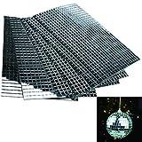Láminas de mini cristales reales autoadhesivas cuadrados y redondos, 5/10mm,...