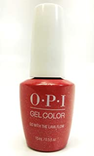 New Look GELCOLOR SOAK OFF GEL NAIL POLISH 0.5 OZ GO WITH THE LAVA FLOW GC H69 New and Genuine