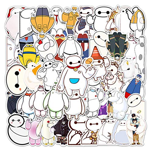 WYZNB big white decorative stickers luggage suitcase suitcase scooter car non-repetitive waterproof graffiti stickers 51pcs
