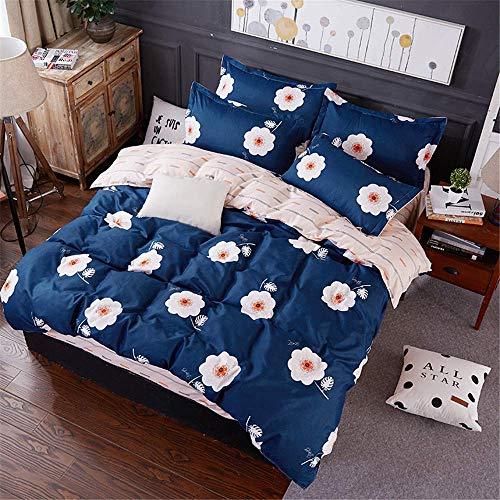 JALAL Bedding Duvet Cover Set Double King Single Size 4 Pcs Duvet Set with 1 Quilt Case 1 Flat Sheet 2 Pillowcases