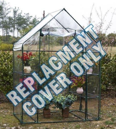 garden mile® Housse de rechange en plastique PVC pour grand cadre en métal portable pour serre de jardin ou serre de jardin - Housse de rechange en PVC uniquement