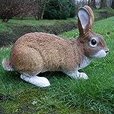Dekofigur Hase Kaninchen Tierfigur Gartenfigur Wildkaninchen Zwerghase - 3