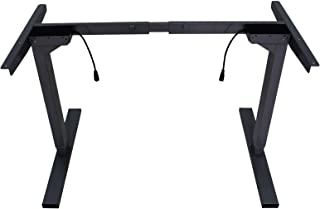 Standing Desk Height Adjustable Sit Stand Motorised Electric Frame Only Black