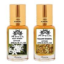 Mayin Raat Ki Rani And Yellow Champa Pack of 2 (3ml) Attar