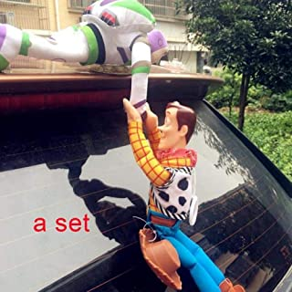 Lovely Toy Story Sherif Woody Car Doll Plush Toys Outside Hang Toy Cute Auto Accessories Car Decoration Toy 25/35/45CM A Set