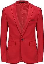 MOGU Mens Slim Fit One Button Casual Blazer Jacket