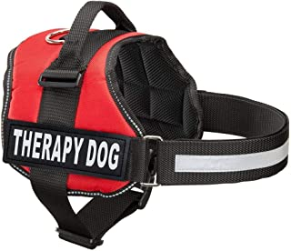Industrial Puppy Therapy Dog Harness with Hook and Loop Straps and Handle - Harnesses in 7 Sizes from XXS to XXL - Therapy Dog in Training Vest Features Reflective Therapy Dog Patch