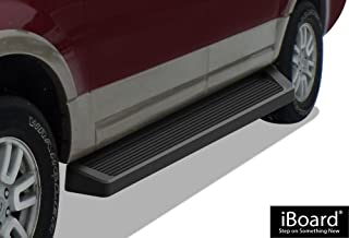 APS iBoard (Black Powder Coated Running Board Style) Running Boards Nerf Bars Side Steps Step Rails Compatible with 2007-2017 Ford Expedition EL Sport Utility 4-Door