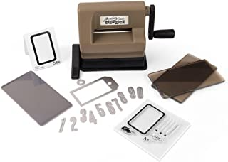 Sizzix Sidekick Starter Kit Manual Die Cutting Machine with Suction Mounting Base and Framelits and Thinlits Dies, 6 Stamps, Embossing Pad and Folder, 2.5 In (6.35 Cm) Opening, Brown by Tim Holtz