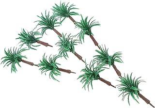 62pcs Modèle Arbre Epée Herbe et Palmier en Plastique Miniature Paysage