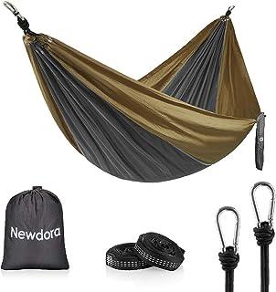 Newdora Camping Hammock - Lightweight Nylon Portable Hammock, 270x140cm Best Parachute Double Hammock for Backpacking, Cam...