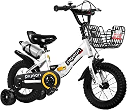 "Axdwfd Kids Bike 12"" 14"" Kids Bike for Girls & Boys Ages 2-5 Years Old, Children Bicycle with Training Wheels & Hand Brakes,Green, White, Pink Bicycle"