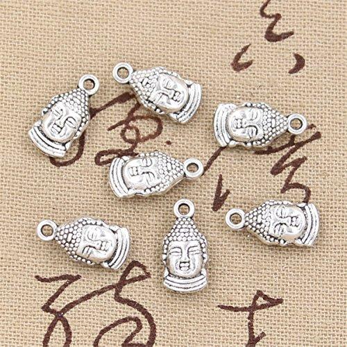 30pcs Charms Buddha Head 16x8mm Antique Making Vintage Tibetan Silver Zinc Alloy Pendant