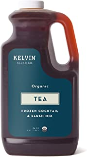 Kelvin Slush Co. – Tea – Organic Frozen Cocktail & Slush Mix – Award-Winning Slush Machine & Blender Mix, Bars, Restaurants, At Home (64 oz bottle)