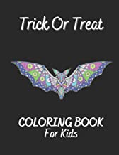 Trick Or Treat Coloring Book For Kids: Antistress And Relieving Large Pictures Of Halloween Monsters