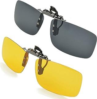 0c1d05040d Gafas de sol con clip, unisex, polarizadas, sin montura, lentes  rectangulares,