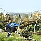 XHLLX Hamaca al Aire Libre Acampada Ultraligero mosquitera en paracaídas Hamaca 2 Personas Flyknit Hamaca Garden hamak suspendido Cama