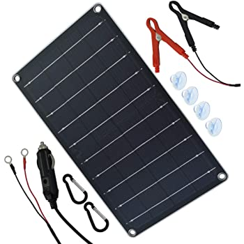 Betop camp Solar Powered Car Battery Charger Bundle with