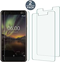 Tonvizern Compatible with Nokia 6.1(Nokia 6 2018 Version) Screen Protector,[2-Pack] 0.2mm 6H Hardness PET Screen Protector [Not Glass]