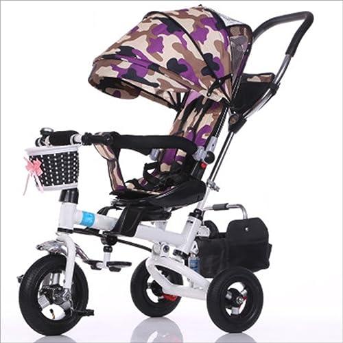 tienda de bajo costo Strollers Strollers Strollers DD Bicicleta de bebé Bicicleta Infantil de 8 Meses en Bicicleta - 6 años, con toldo, neumático de Goma Completo Triciclo Bebe  venta mundialmente famosa en línea
