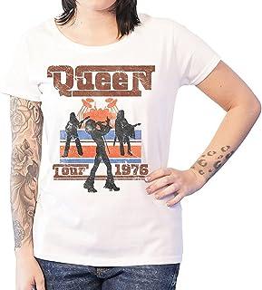QUEEN クイーン (ボヘミアン・ラプソディ公開記念) - 1976 TOUR SILHOUETTES/Tシャツ/レディース 【公式/オフィシャル】