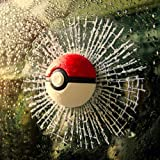 Pokeball Car Broken Hits Glass 3D Sticker Decor Wall Pokemon Ball Funny Decal