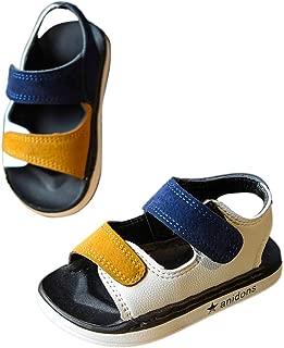 Hopscotch Baby Boys PU Solid Velcro Sandal - Blue