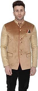 Men's Velvet Casual and Festive Indian Jodhpuri Grandad Bandhgala Blazer