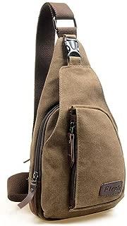 Casual Canvas Unbalance Backpack Crossbody Sling Bag Shoulder Bag Chest Bag
