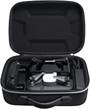 Esimen Hard Case for DJI Spark Portable Charging Station,Remote Controller,Charging Adapter Carry Bag Protective Box (Black+Silver)