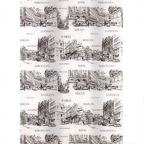 Gehobene Individualität Duschvorhang, PEVA Kunststoff Wasserdicht Translucent Soft City Printing Weißer Hintergr& Badezimmer Europäischen Nehmen Ein Bad Vorhang 180x200 (B X H) Persönlichkeit nord