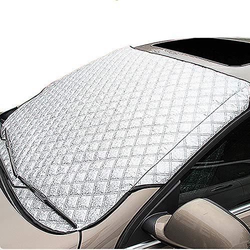 CARCOVER Cubierta Parabrisas Coche Todos Climas Impermeable Anti-Viento Anti-Polvo Resistente Rayones Exterior Protección UV por Mayoría Vehículos