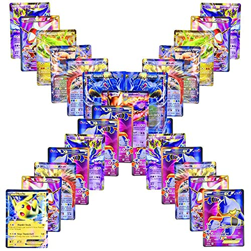 100 Pokemon Starter Collection Cards including - GX - 80 EX + 20 GX - Gifts...
