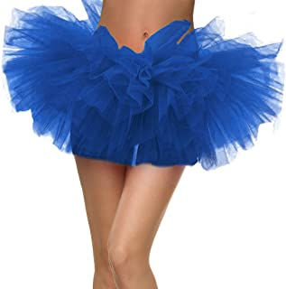 Adult Women's 5 Layered Tulle Ballet Tutu Skirt-Assorted Colors